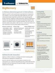 Factsheet Terracotta / BigMemory - Software AG