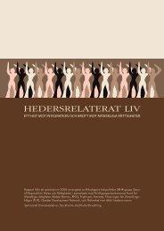 HEDERSRELATERAT LIV - Fonden för mänskliga rättigheter