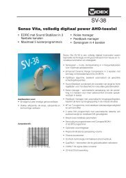 Senso Vita, volledig digitaal power AHO-toestel - Widex