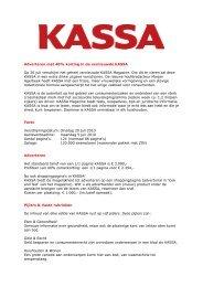 Adverteren met 40% korting in de vernieuwde KASSA Op 20 ... - Vara