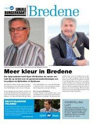 BuRGERKRAnt BREDEnE - Open VLD Bredene