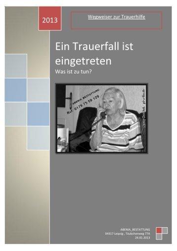 Info: Ein Trauerfall ist eingetreten - Bestatter-Preisvergleich.de