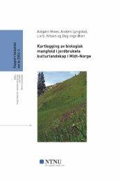 Kartlegging av biologisk mangfold i kulturlandskap - Fylkesmannen.no