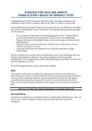 Strategi för särskilt stöd - Hjo kommun