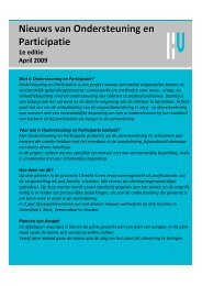 Nieuwsbrief april 2009 - Ondersteuning en participatie