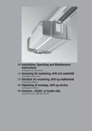 Garageportsmaskineri SupraMatic E P 2 - Hörmann