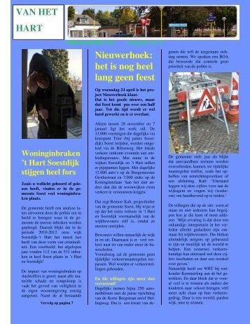 Nieuwerhoek: het is nog heel lang geen feest - Soestdijk het Hart