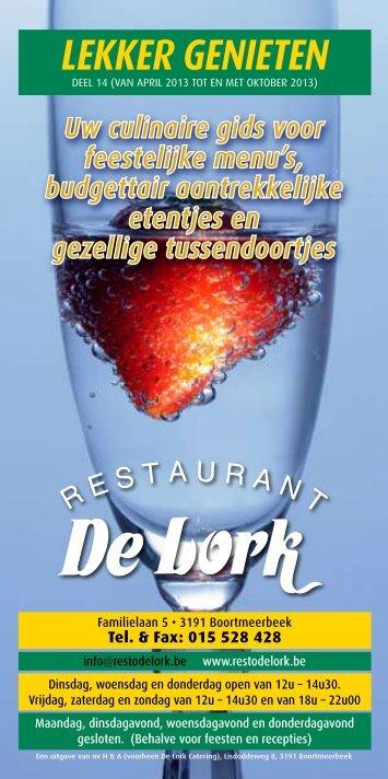 Uw persoonlijke brochure downloaden - De Lork