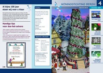 Bewonersblad 4 2007 - Woningstichting Bergh