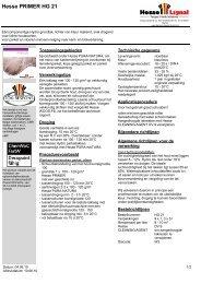 Technische Fiches - Hesse Lignal