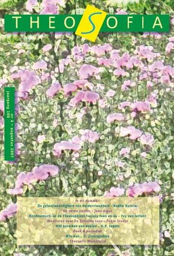 Jaargang 108, nummer 4, Augustus 2007 (PDF) - Theosofische ...