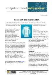 Föreskrift om dricksvatten