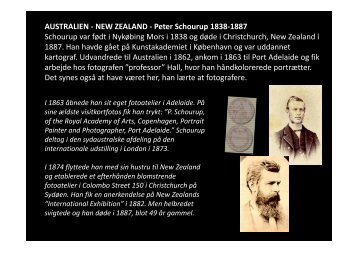 AUSTRALIEN - NEW ZEALAND - Peter Schourup 1838-1887 ...