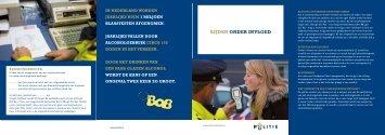 Folder rijden onder invloed - Openbaar Ministerie