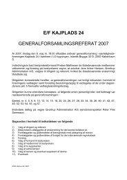 Generalforsamling 8. maj 2007 - Kajplads 24