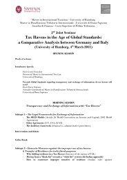 Master in International Taxation – University of Hamburg