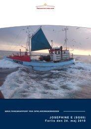 JOSEPHINE E (SG80) Forlis den 24. maj 2010 - Søfartsstyrelsen