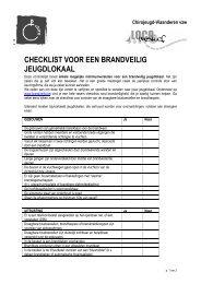 checklist voor een brandveilig jeugdlokaal - Chiro - Chirojeugd ...
