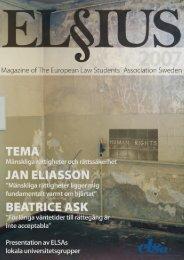 ELSIUS nr 4 - 2007 - ELSA Sweden