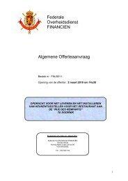 Federale Overheidsdienst FINANCIEN Algemene ... - FOD Financiën
