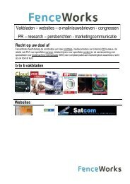 Vakbladen – websites – e-mailnieuwsbrieven ... - Cloudworks