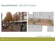 definitief ontwerp voor de herinrichting Kouvenderstraat (PDF)