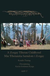 Min tibetanska barndom i Zorgay - Life and Culture on the Tibetan ...