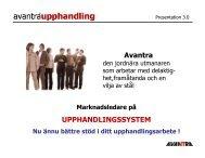 Nyheter våren 2004 - Avantra