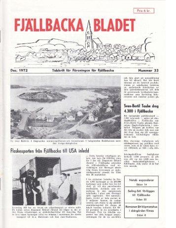 FJÄLLBACKA BLADET - Föreningen för Fjällbacka