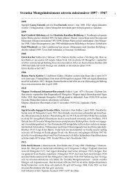 Mongolmissionens missionärer 1897-1947