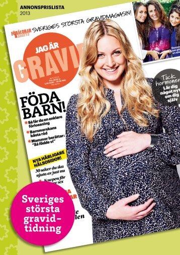 Sveriges största gravid- tidning