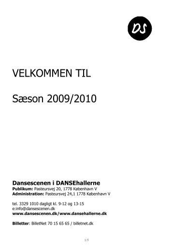 ***Final DS Velkomstmappe 2009-10 nyeste - Dansehallerne