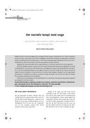 Om narrativ terapi med unge - Anette Holmgren