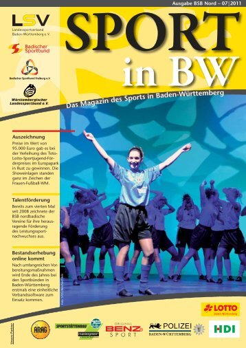 Sport in bw Nr. 07/11 - Badischer Sportbund Nord ev