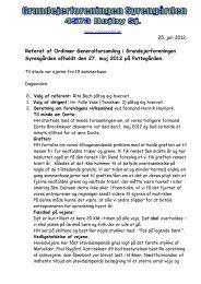 Referat af Ordinær Generalforsamling i Grundejerforeningen ...