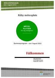 Månadsprogram Sommar Råby