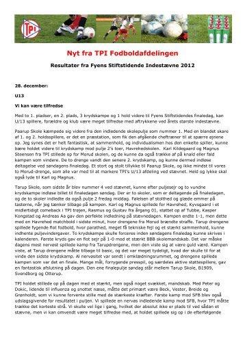 Resultater fra Fyens Stiftstidende Indestævne - Tarup Paarup ...