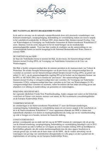 Nationaal Bestuursakkoord Water - Interprovinciaal Overleg