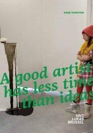 Atelierfolder Vrije kunsten - Hogeschool Sint-Lukas Brussel