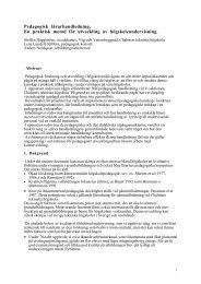 Pedagogisk lärarhandledning. En praktisk metod för utveckling av ...