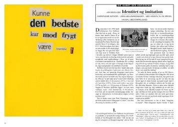 I. JAN BÄCKLUND: Identitet og imitation - archiwum