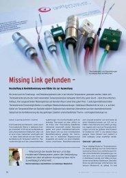 Missing Link gefunden – - Gatterbauer Messtechnik