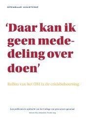 Daar kan ik geen mededeling over doen - Nederlands Genootschap ...