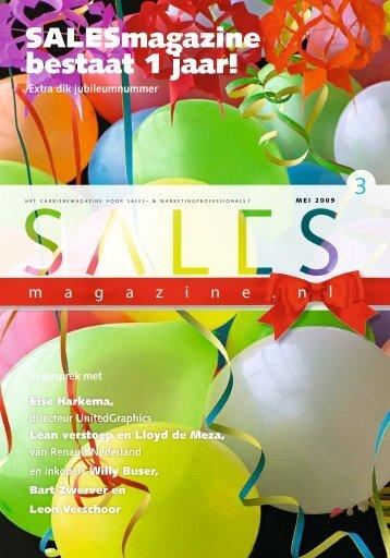 SALESmagazine bestaat 1 jaar!