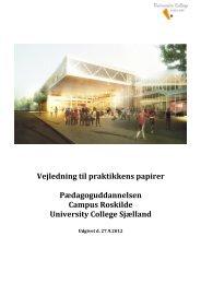 Vejledning til praktikkens papirer - University College Sjælland