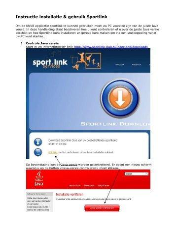 Instructie installatie & gebruik Sportlink PDF - Dongen