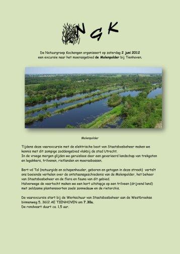 De Natuurgroep Kockengen organiseert op zaterdag 2 juni 2012 ...