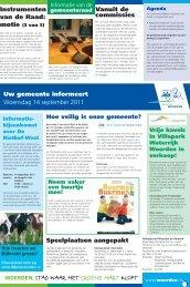 Uw gemeente informeert Woensdag 14 september 2011 ...