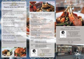 Meunu- en Dinersuggesties met bestellijst - Specialiteitenslagerij ...