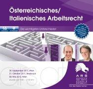 Österreichisches/Italienisches Arbeitsrecht; die wichtigsten ...